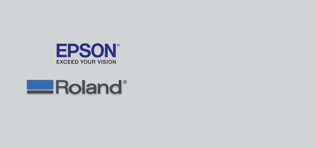 Imagem da marca Epson e Roland